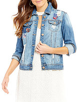 YMI Jeanswear Americana Patchwork Denim Jacket
