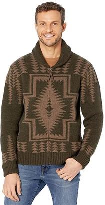Pendleton Harding Zip (Green/Brown Harding) Men's Clothing