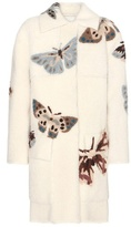 Valentino Printed shearling coat
