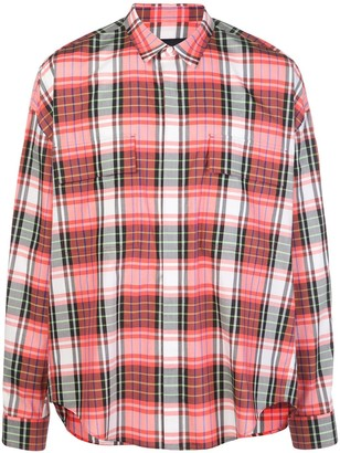 Juun.J Loose-Fit Plaid Shirt
