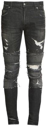 Balmain Slim Distressed Ribbed Jeans