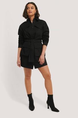 Chloé B X NA-KD Tie Front Pocket Dress