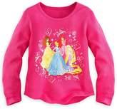 Disney Store Princesses Belle Ariel Cinderella Rapunzel Thermal Shirt Tee Girls