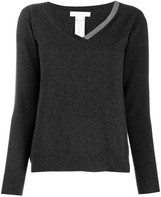 Fabiana Filippi embellished V-neck jumper