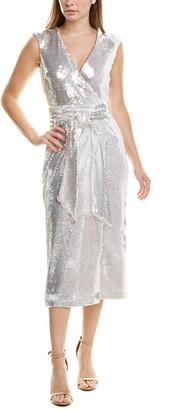 Badgley Mischka Ice Sequin Midi Dress