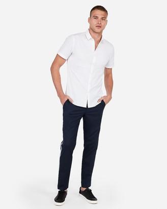 Express Slim Wrinkle-Resistant Button-Down Short Sleeve Performance Shirt