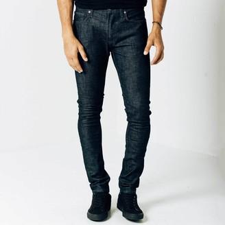 DSTLD Skinny Jeans in Dark Wash Resin - Grey Stitch