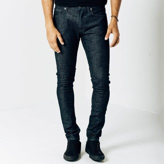 DSTLD Skinny Jeans in Dark Wash Resin - Grey Stitch