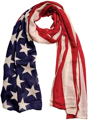 Bay Sky by San Diego Hat Co. Woven American Flag Scarf
