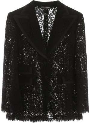 Dolce & Gabbana LACE JACKET 42 Black
