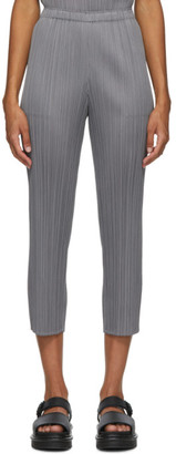 Pleats Please Issey Miyake Grey Basics Trousers