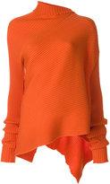 Marques Almeida Marques'almeida - draped knitted top - women - Merino - S