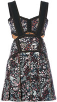 Self-Portrait floral cutout dress - women - Cotton/Polyester/Spandex/Elastane - 6
