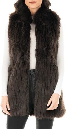 Fabulous Furs Apres Faux Fur Long Vest