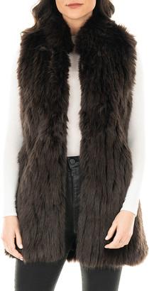 Fabulous Furs Apres Faux Fur Long Vest