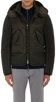 Moncler Men's Down Quilted Hooded Parka-DARK GREEN
