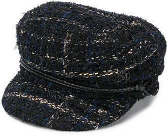 Maison Michel Abby tweed baker boy hat