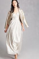 Forever 21 FOREVER 21+ Metallic Maxi Dress