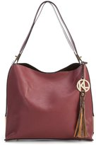 Kate Landry Deaux Hobo Bag with Metallic Shoulder Pouch
