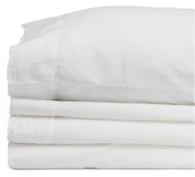Jennifer Adams Home Jennifer Adams Relaxed Cotton Percale Full Sheet Set Bedding