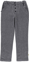 Nui Billy Herringbone Organic Cotton Flannel Trousers Grey