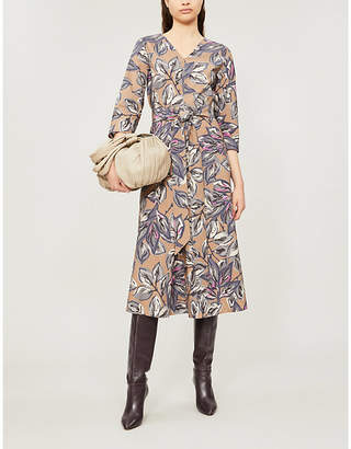 Max Mara S Lacca floral-print waist-tie cotton dress