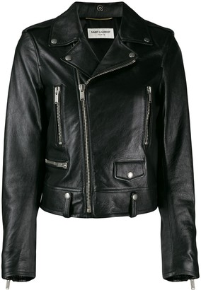Saint Laurent Cropped Biker Jacket