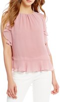 M.S.S.P. Ruffled Georgette Woven Blouse