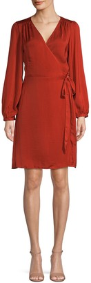Ava & Aiden Long-Sleeve Wrap Dress