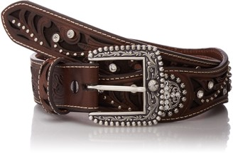 Ariat Women's Filagree Scalop Circle Concho Brown Belt Large