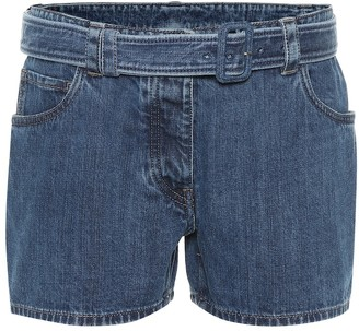 Prada Belted denim shorts