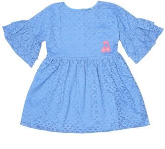 Mini Rodini Note cotton-blend lace dress