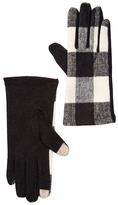 David & Young Plaid Wool Blend Gloves
