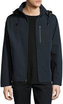 T Tahari Micro-Tech Stand-Collar Jacket, Navy