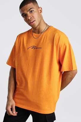 boohoo Oversized MAN Signature T-Shirt