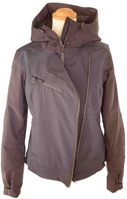 Peak Performance Blue Leather Jacket for Women