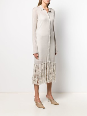 Bottega Veneta Fringed Shirt Dress