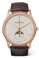 Jaeger-LeCoultre Master Ultra Thin Moon 39mm Rose Gold, Diamond And Alligator Watch