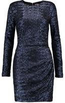 MSGM Gathered Sequin-Embellished Faille Mini Dress