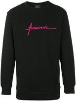 Paura logo embroidery sweatshirt