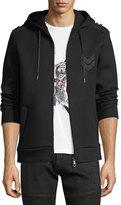 Neil Barrett Military Arrow Zip-Front Sweatshirt Hoodie
