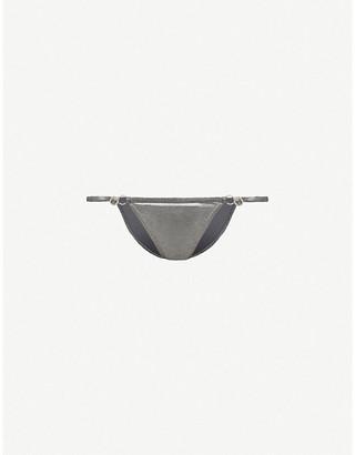 Melissa Odabash Capri metallic low-rise bikini bottoms