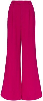 Rebecca De Ravenel Wide-Leg Flared Trousers