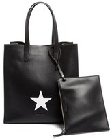 Givenchy Medium Stargate Star Leather Tote - Black