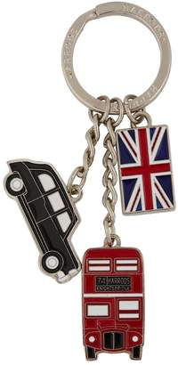 Harrods Bus, Taxi and Flag Charm Keyring