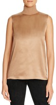 Lafayette 148 New York Bonita Knit Collar Silk Blouse