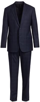 Giorgio Armani Gingham Sihgle-Breasted Wool Suit