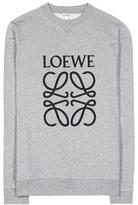 Loewe Embroidered cotton sweatshirt