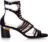 Lanvin Block-heel suede gladiator sandals