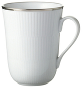 Royal Copenhagen Platinum Fluted Mug